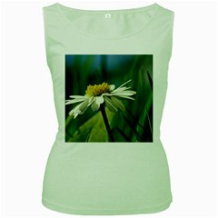 Daisy Womens  Tank Top (Green)