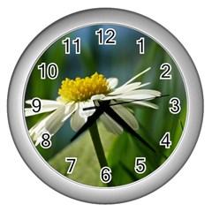 Daisy Wall Clock (Silver)