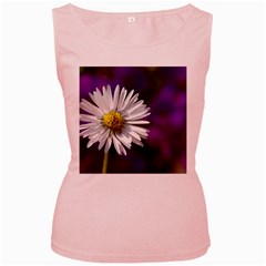 Daisy Womens  Tank Top (Pink)