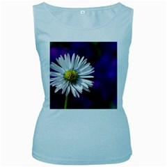 Daisy Womens  Tank Top (baby Blue)