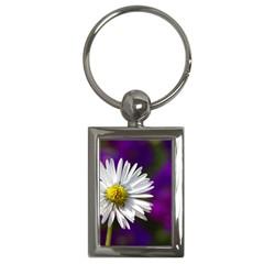 Daisy Key Chain (rectangle)