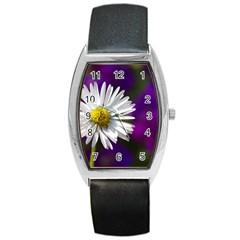 Daisy Tonneau Leather Watch