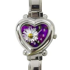 Daisy Heart Italian Charm Watch