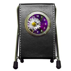 Daisy Stationery Holder Clock