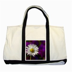 Daisy Two Toned Tote Bag