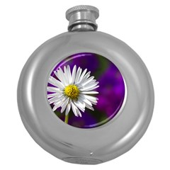Daisy Hip Flask (Round)