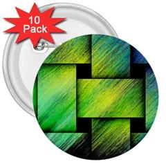 Modern Art 3  Button (10 pack)