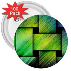 Modern Art 3  Button (100 pack)