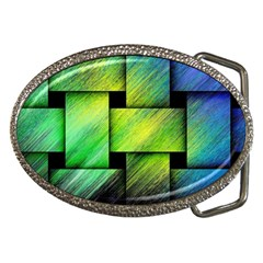 Modern Art Belt Buckle (oval)
