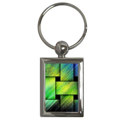Modern Art Key Chain (Rectangle)