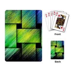 Modern Art Playing Cards Single Design