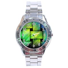 Modern Art Stainless Steel Watch (Men s)