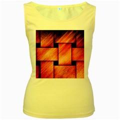 Modern Art Womens  Tank Top (Yellow)