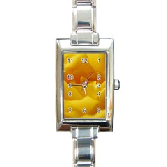 Yellow Rose Rectangular Italian Charm Watch