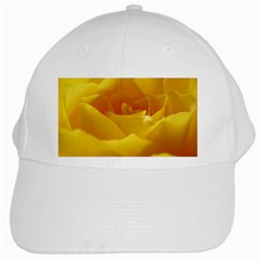 Yellow Rose White Baseball Cap