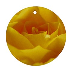 Yellow Rose Round Ornament