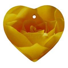 Yellow Rose Heart Ornament