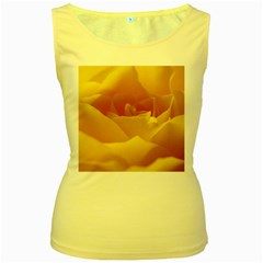Yellow Rose Womens  Tank Top (Yellow)