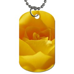 Yellow Rose Dog Tag (one Sided)