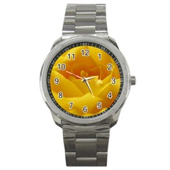 Yellow Rose Sport Metal Watch