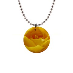 Yellow Rose Button Necklace