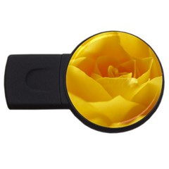 Yellow Rose 4GB USB Flash Drive (Round)