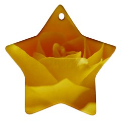 Yellow Rose Star Ornament (Two Sides)