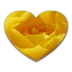 Yellow Rose Mouse Pad (Heart)