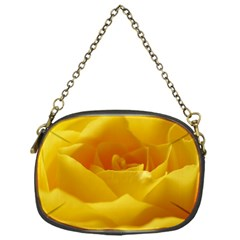 Yellow Rose Chain Purse (One Side)