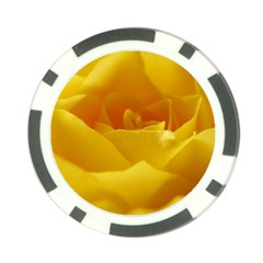 Yellow Rose Poker Chip (10 Pack)