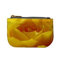 Yellow Rose Coin Change Purse