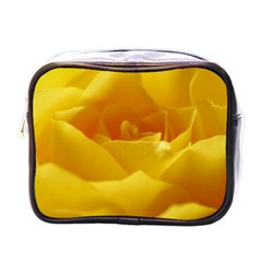 Yellow Rose Mini Travel Toiletry Bag (One Side)