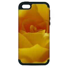 Yellow Rose Apple iPhone 5 Hardshell Case (PC+Silicone)