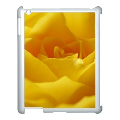 Yellow Rose Apple iPad 3/4 Case (White)