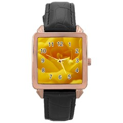 Yellow Rose Rose Gold Leather Watch