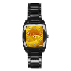 Yellow Rose Men s Stainless Steel Barrel Analog Watch