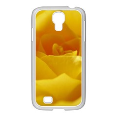 Yellow Rose Samsung GALAXY S4 I9500/ I9505 Case (White)