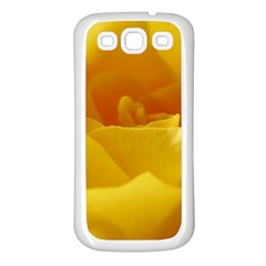 Yellow Rose Samsung Galaxy S3 Back Case (White)