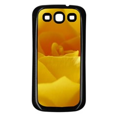 Yellow Rose Samsung Galaxy S3 Back Case (Black)
