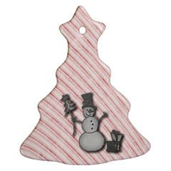 Happy Little Snowman Christmas Tree Ornament (two Sides)
