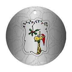 The Hungry Giraffe Round Ornament (two Sides)