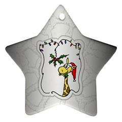 The Hungry Giraffe Star Ornament (Two Sides)