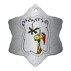 The Hungry Giraffe Snowflake Ornament (Two Sides)