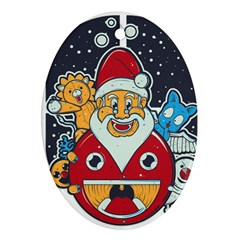 Jolly Season Oval Ornament (Two Sides)