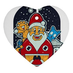 Jolly Season Heart Ornament (Two Sides)