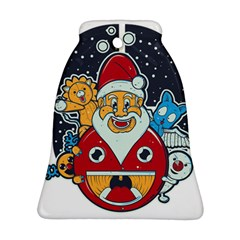 Jolly Season Bell Ornament (Two Sides)