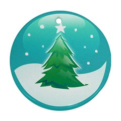 Winter Paradise Round Ornament (two Sides)