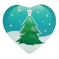 Winter Paradise Heart Ornament (two Sides)