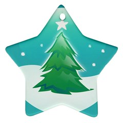 Winter Paradise Star Ornament (Two Sides)