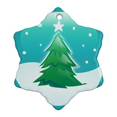 Winter Paradise Snowflake Ornament